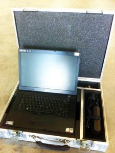 Our laptops come complete with a rugged, custom built flight case